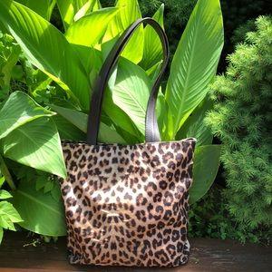 Saks Fifth Ave.Leopard Bag